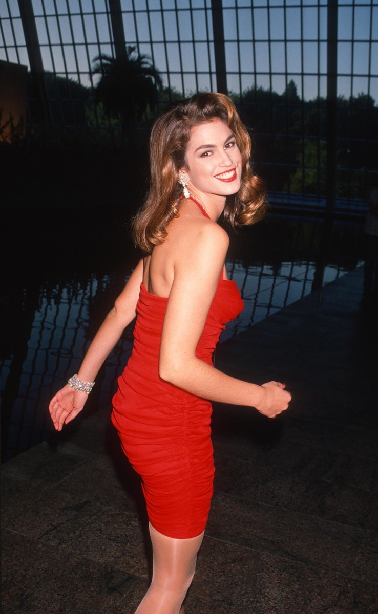 Cindy Crawford during Revlon's Unforgettable Women of 1990 at Metropolitan Museum of Art in New York City, New York.